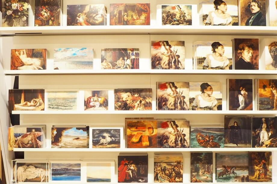 ルーブル美術館のポストカード