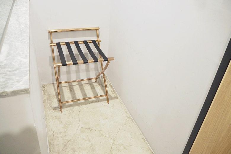 パポアホテルの荷物置きスペース