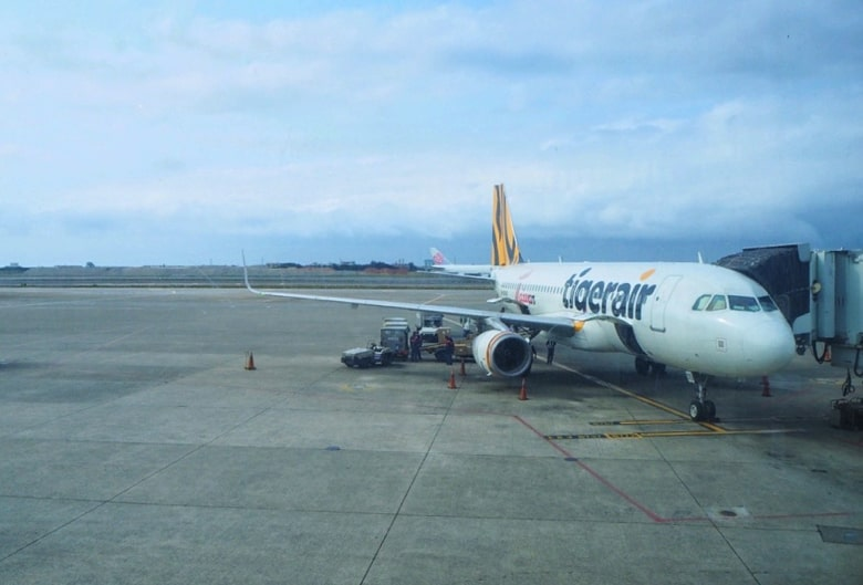 日本から台北に行くフライト