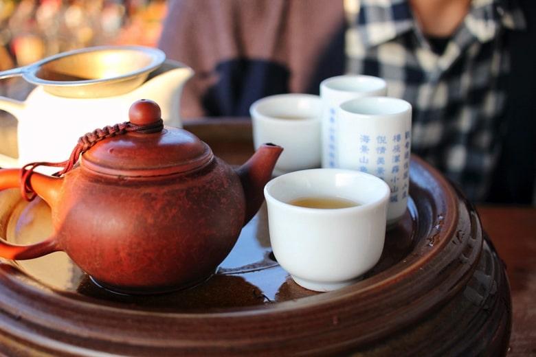 海悦楼景観茶坊のお茶
